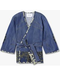 Derek Lam | Floral Trim Denim Jacket | Lyst