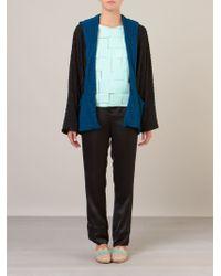 Fernanda Yamamoto - Contrast Open-Front Blazer - Lyst