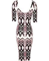Jane Norman Gypset Print Midi Dress - Lyst
