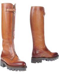 Prada Brown Boots - Lyst