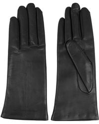 Givenchy Short Gloves In Black Leather - Lyst