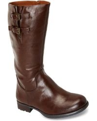 Franco Sarto Peridot Dark Brown Boots - Lyst