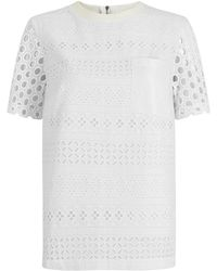 House of Holland | Broderie Tee | Lyst