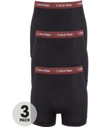 Calvin Klein Mens Low Rise Trunks 3 Pack - Lyst
