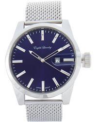 English Laundry - El7595 Silver-Tone & Blue Watch - Lyst