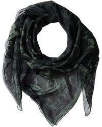 Alexander McQueen Animalier Skull Shawl Chiffon - Lyst
