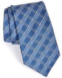 John Varvatos Check Silk Tie - Lyst