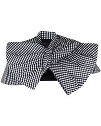 Marc By Marc Jacobs Yoko Gingham Bow Shrug - Lyst