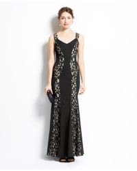 Ann Taylor Lace Inset Gown - Lyst
