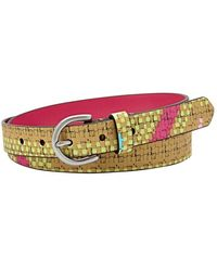 Fossil Graphic Print Leather Belt - Lyst