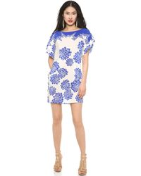 Vionnet Crepe De Chine Lotus Print Dress - Lyst