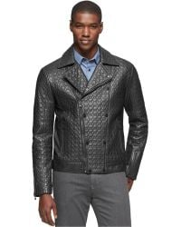 Calvin Klein Premium Snake Embossed Leather Jacket - Lyst