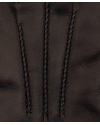 Simon Carter - Dark Brown Leather Gloves - Lyst