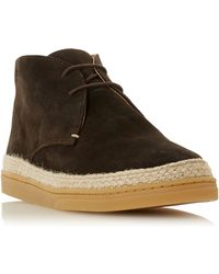 d0999d87fb367 Loewe Espadrille-sole Suede Desert Boots in Natural for Men - Lyst