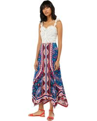 Monsoon - Blue 'amanda' Print Maxi Skirt - Lyst