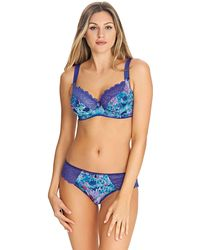 Freya - Blue Floral Print 'chelsea Bloom' Underwired Side Support Full Cup Bra - Lyst