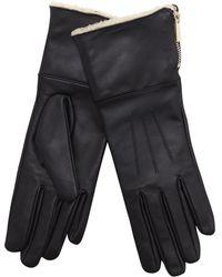 J By Jasper Conran - Black Borg Lined Leather Gloves - Lyst