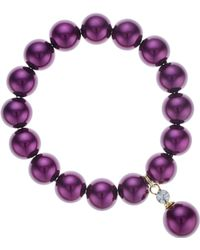 J By Jasper Conran - Designer Purple Pearl Bracelet - Lyst