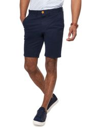 Racing Green - Navy Chino Shorts - Lyst