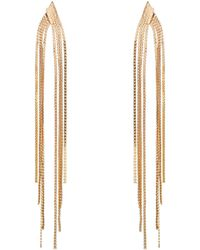 Phase Eight - Gold Bessie Tassel Earrings - Lyst