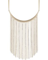 Red Herring - Gold Multi Chain Drop Necklace - Lyst