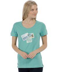 Regatta - Blue 'filandra' Cotton Print T-shirt - Lyst
