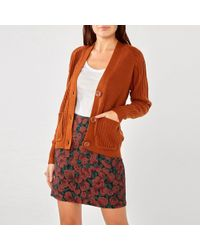 Dorothy Perkins - Tan Large Button Cardigan - Lyst