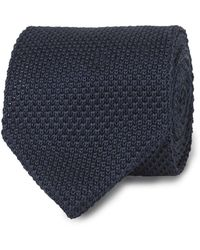 Tm Lewin - Navy Knitted Silk Tie - Lyst