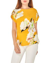 Dorothy Perkins - Ochre Floral Print Placement Blouse - Lyst