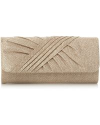 Roland Cartier - Gold 'bailee' Ruched Flap Over Clutch Bag - Lyst