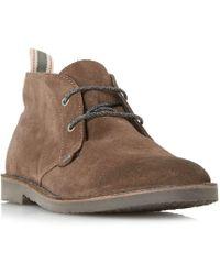 Bertie - Brown 'castle' Lace Up Desert Boots - Lyst