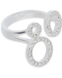 Pilgrim - Silver Plated Triple Circle Embellished Ring - Lyst