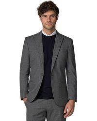 Racing Green - Grey Jaspe Tailored Jacket - Lyst