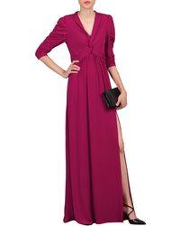 Jolie Moi - Purple Twist Front Side Slit Maxi Dress - Lyst