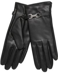 J By Jasper Conran - Black Faux Fur Lined Leather Gloves - Lyst