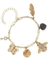 Matthew Williamson - Gold Crystal Locket Charm Bracelet - Lyst