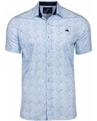 Raging Bull - Big And Tall White Short Sleeve Micro Floral Shirt - Lyst
