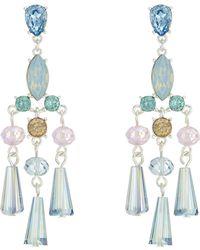 J By Jasper Conran - Designer Crystal Bead Chandelier Earrings - Lyst
