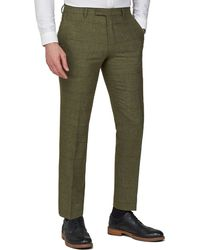 Racing Green - Green Heritage Check Tweed Tailored Fit Suit Trousers - Lyst