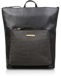 Carvela Kurt Geiger - Black  calypso Zip Top Backpack  Croc Effect Backpack  - Lyst d746be71df