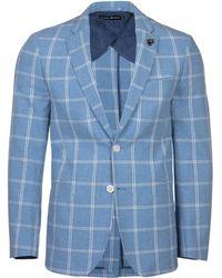 Raging Bull - Blue Wool Check Blazer - Lyst