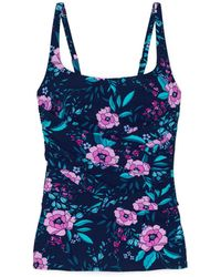 Lands' End - Multi Shape And Enhance Peony Print Tankini Top - Lyst