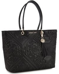 Versace Jeans - Black Embroidered Large Grab Bag - Lyst f606f29542d64