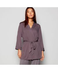 20fa1e47ce John Lewis Women Long Silk Dressing Gown Light Grey in Gray - Lyst