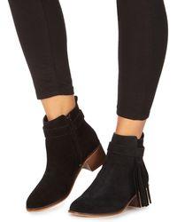 28660caa2e8a New Look Black Zip Split Crock Suedette Chunky Boots in Black - Lyst