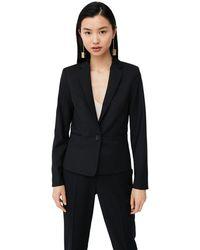 Mango - Black 'boreal' Suit Blazer - Lyst