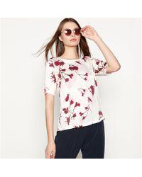Minimum - White 'carmen' Floral Print Top - Lyst