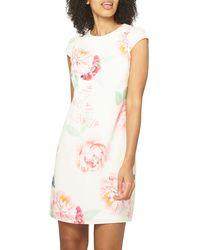 83a8aff169431 Dorothy Perkins - Billie & Blossom White Bloom Print Shift Dress - Lyst
