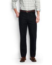 Lands' End - Black Pre-hemmed Coloured Traditional Fit Jeans - Lyst
