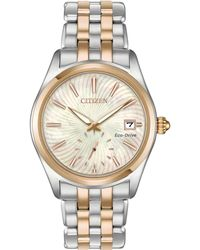 Citizen - Women's Corso Two-tone Stainless Steel Bracelet Watch 36.2mm - Lyst